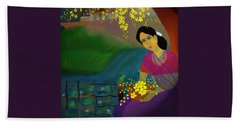 Beach Towel featuring the digital art On The Eve Of Golden Shower Festival by Latha Gokuldas Panicker