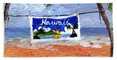 Beach Sheet featuring the painting On The Line by Darice Machel McGuire