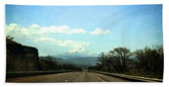 On The Road To Mount Hood Beach Towel