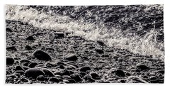 On The Rocks  French Beach Square Beach Towel
