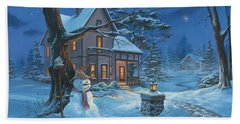 Once Upon A Winter's Night Beach Towel