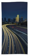 Oncoming Traffic Beach Towel by Rick Berk