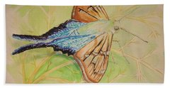One Day In A Long-tailed Skipper Moth's Life Beach Towel