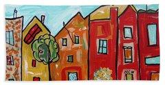 One House Has A Screen Door Beach Towel by Mary Carol Williams