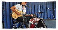 One Man Band - Bloodshot Bill Beach Towel by Mike Martin