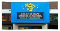 One Of Ten Great Streets In America Beach Towel