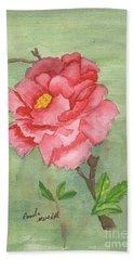 One Rose Beach Sheet by Pamela  Meredith