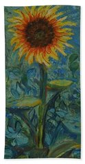 One Sunflower - Sold Beach Towel