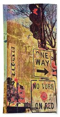 One Way To Uptown Beach Towel by Susan Stone