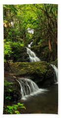 Onomea Falls Beach Towel by James Eddy