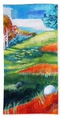 Oops - Bad Lie Beach Towel by Betty M M   Wong
