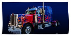 Optimus Prime Blue Beach Sheet