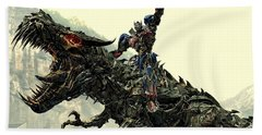 Optimus Prime Riding Grimlock Beach Sheet