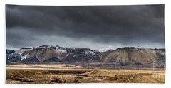 Oquirrh Mountains Winter Storm Panorama 2 - Utah Beach Sheet