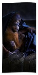 Orang Utan Youngster With Blanket Beach Sheet