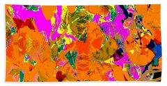 Orange Abstract Beach Sheet by Barbara Moignard