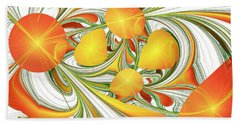 Orange Attitude Beach Sheet