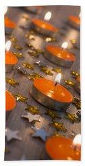 Orange Candles Beach Towel