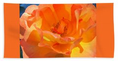 Orange Delight -  Images From The Garden Beach Sheet by Brooks Garten Hauschild