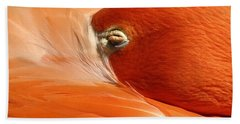 Flamingo Orange Eye Beach Towel