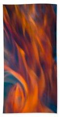 Orange Fire Beach Towel