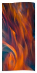 Orange Fire Beach Towel