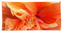 Orange Hibiscus Beach Sheet