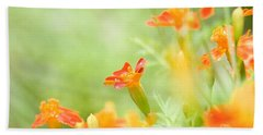Beach Towel featuring the photograph Orange Meadow by Ann Lauwers