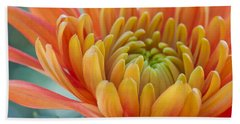 Orange Mum Closeup Beach Towel