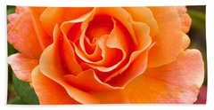 Beach Towel featuring the photograph Orange Rose Lillian by Dee Dee  Whittle