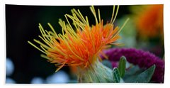 Orange Safflower Beach Sheet