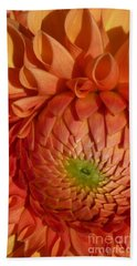 Orange Sherbet Delight Dahlia Beach Sheet by Susan Garren