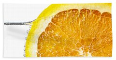 Orange Slice In Water Beach Towel