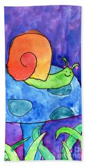 Orange Snail Beach Towel