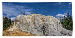 Orange Spring Mound Yellowstone National Park Beach Towel