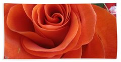 Orange Twist Rose 2 Beach Towel