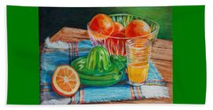 Oranges Beach Towel