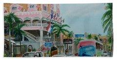 Oranjestad Aruba Beach Towel by Frank Hunter