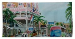 Oranjestad Aruba Beach Sheet by Frank Hunter