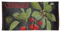 Orchard Fresh Cherries-jp2639 Beach Towel