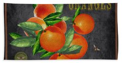 Orchard Fresh Oranges-jp2641 Beach Towel