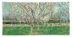 Orchard In Blossom, 1880  Beach Towel