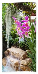 Orchid Garden Beach Towel by Carey Chen