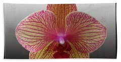Orchid  With Stars Beach Towel