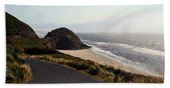 Oregon Coast And Fog Beach Towel