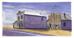 Oregon Ghost Town Watercolor Beach Sheet