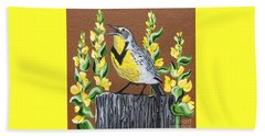 Oregon Meadowlark Beach Towel