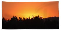 Oregon Sunset Beach Towel