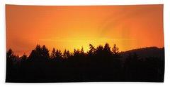 Oregon Sunset Beach Towel by Melanie Lankford Photography
