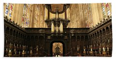 Organ And Choir - King's College Chapel Beach Towel